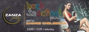 back to school party zanza