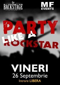 party like a rockstar backstage